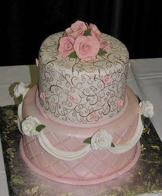 Pink Victorian Birthday (missing cake artist's name) by snarkygurl, via Flickr