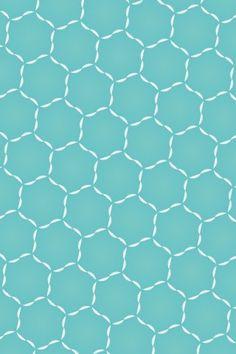 Simple Blue Hexagonal Pattern iPhone 5 Wallpaper