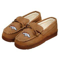 Denver Broncos Mens Winter Moccasin Slippers