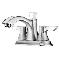 ANZZI Vista Double Handle Mini - Widespread Lever Bathroom Faucet with Drain Assembly Finish: