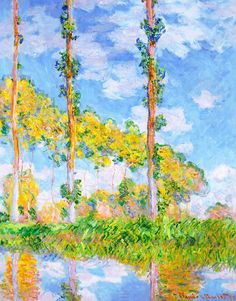 Claude Monet, «Poplars in the Sun»