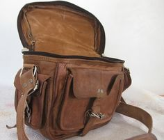 Camera Bag Leather Camera case Padded DSLR SLR camera Bag Unisex on Etsy, $49.00