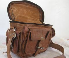 Camera Bag Leather Camera case Padded DSLR SLR camera Bag Unisex on Etsy, $49.00