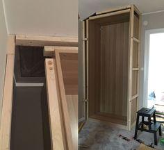 Så bygger du in Ikeas paxgarderober – DYI platsbyggt