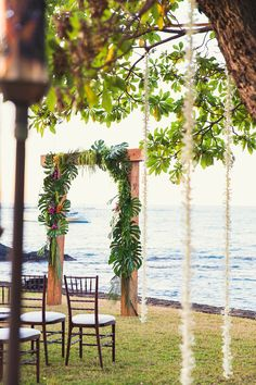 Tropical wedding inspiration can be tired in Hawaii so for Jeanette and Travis' Hawaii Plantation Theme, we wanted to come up with some fresh modern ways to create Tropical Elegance that was still fun and playful! We chose dark wood tables and a lace runner to help add dimension to the design and…