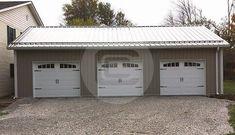 Garage Door Framing, Garage Floor Paint, Garage Door Design, Garage Doors, Car Garage, Garage Office, Garage Loft, Steel Garage, Garage Kits