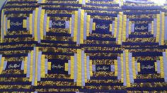 Home Made Log Cabin Sunflowers and Crown Royal Quilt Top | eBay