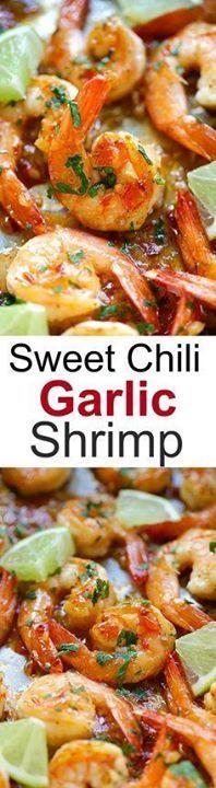 Sweet chili-garlic s Sweet chili-garlic shrimp  easiest and...  Sweet chili-garlic s Sweet chili-garlic shrimp  easiest and most delicious shrimp you can make in 15 mins. Sticky sweet savory with a little heat. SO good!   rasamalaysia.com Recipe : http://ift.tt/1hGiZgA And @ItsNutella  http://ift.tt/2v8iUYW