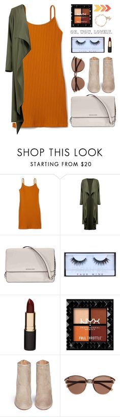 """""""Fall vibes"""" by altrisa-mulla ❤ liked on Polyvore featuring Boohoo, Michael Kors, Huda Beauty, Mimco, Aquazzura, Witchery and Chanel"""