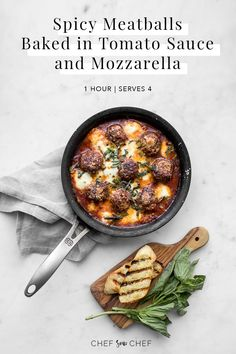 Served in a homemade tomato sauce of basil, garlic and chili peppers, these spicy meatballs are simply seasoned, gluten-free and recommended as a stand alone dish, served traditionally over pasta or as a meatball sub. Potluck Recipes, Spicy Recipes, Cheese Recipes, Real Food Recipes, Easy Recipes, Keto Recipes, Dinner Recipes, Tomato Sauce For Meatballs, Spicy Meatballs
