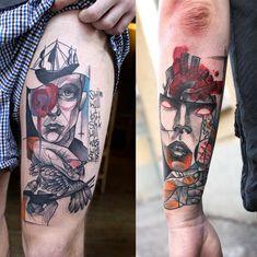 Tattoos by Berlin tattoo artist Peter Aurisch