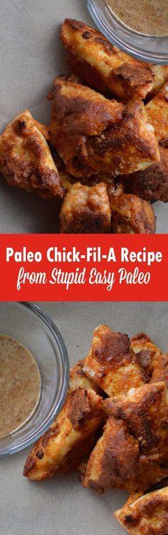 Paleo Chick-Fil-A Recipe | http://StupidEasyPaleo.com paleo lunch chicken