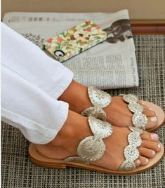 Jack Rogers Sandals. These will be my next pair for Spring/Summer 2014, in silver.