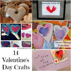 14 Valentine's Day Crafts #valentines #crafts