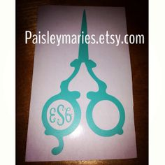 Hey, I found this really awesome Etsy listing at http://www.etsy.com/listing/177367634/hair-stylist-monogram-decal hair stylist hair dresser