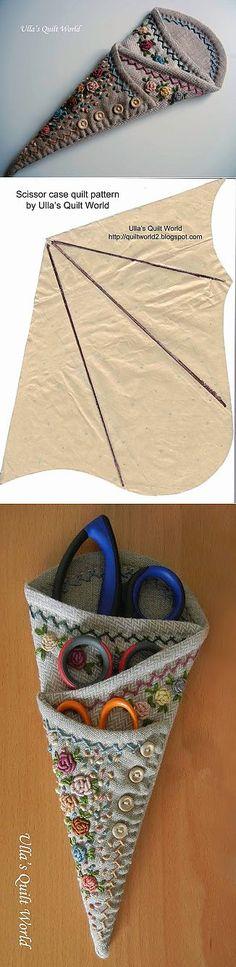 Чехол для ножниц: схема