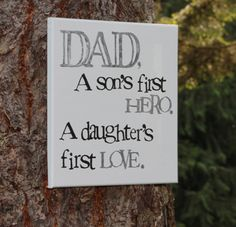 So sweet for Father's day - 12x12  Dad/Daddy quote hand stamped by Houseof3
