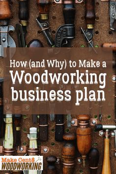 Easy Woodworking Projects Woodworking business plan is an important part of turning your wood hobby into a business. Check out how to make a woodworking business plan. Woodworking Patterns, Woodworking Classes, Easy Woodworking Projects, Popular Woodworking, Woodworking Furniture, Fine Woodworking, Wood Furniture, Woodworking Workbench, Woodworking Workshop