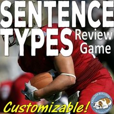 Sentence Types Review Bomb Game Sentence Types, Types Of Sentences, Sentence Structure, Secondary Resources, School Resources, Teaching Resources, Teaching Ideas, Othello Themes, National Board Teacher Certification