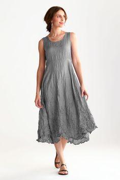 Crushed Silk Organza Swing Dress and Crushed Silk Habutai Swing Dress by Carol Lee Shanks (Silk Dresses)   Artful Home