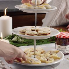 This holiday season, try three of our favorite cookie recipes, using just one dough and our authentic Bonne Maman Preserves, made from natural ingredients for a homemade taste. Bakery Recipes, Cookie Recipes, Dessert Recipes, Just Desserts, Delicious Desserts, Yummy Food, Christmas Desserts, Christmas Baking, Favorite Cookie Recipe