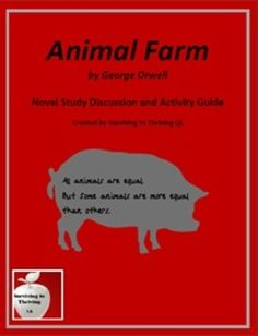literary analysis of the novel animal farm by george orwell Vision of society in george orwell's animal farm  in the novel always remains to associate himself with the oppressed  1⃣ international journal of research.
