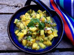 Fresh Pineapple Salsa by:  Southern Girls Eat Clean