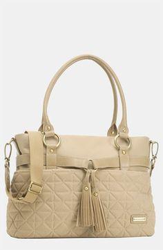 Love this diaper bag from Nordstrom!  Storksak 'Isabella' Nylon Diaper Bag $235.00