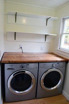 Installing Laundry Room Shelves