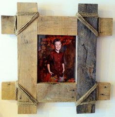 Reclaimed rustic pallet picture frame fits 8 X 10 by Kustomwood, $39.99