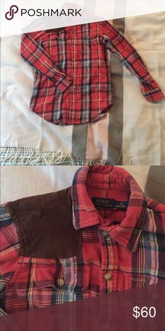 Ralph Lauren flannel Cute and comfy Ralph Lauren flannel shirt. Only worn a few times because I have too many flannels. Lots of life left. Fits XS/S. Leave an offer :) Ralph Lauren Tops Button Down Shirts
