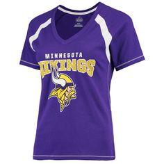 Minnesota Vikings Majestic Women's Plus Size Game Day V-Neck T-Shirt - Purple - $39.99