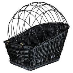 Partez en balade à vélo avec votre animal de moins de 8 kg avec ce panier de transport. Composé d'une base en osier et d'une grille de protection galvanisée recouverte de plastique, ce panier assu...