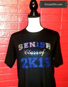 SENIOR Class of Senior Class Shirts For Him or Her heat pressed HTV Holographic & Glitter vinyl Custom Gifts From Above Senior Class Shirts, Graduation Shirts For Family, School Shirts, Graduation Outfits, Cheer Shirts, Dance Shirts, Vinyl Shirts, Holographic Glitter, Senior Shirts