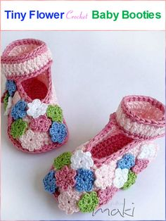 TinyFlowerCrochetBabyBooties - Top 40 Free Crochet Baby Booties Patterns