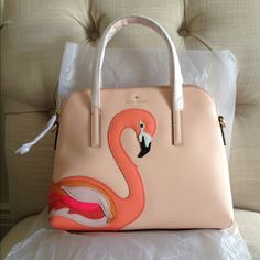 🚫SOLD🚫Kate Spade Flamingo Appliqué Maise NWT Kate Spade flamingo appliqué maise. No trades or holds please. kate spade Bags