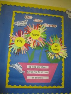 class charter flower | This colourful pot of flowers shows the rights that we have and our ...