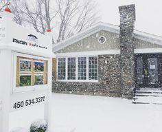 L' #hiver à pas dit son dernier mots!! Il neige à #Bromont!!  . . . #engelvolkers #engelvoelkers