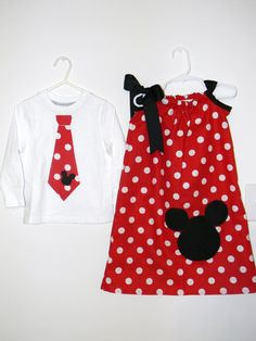 Shirt with tie, dress for Zoe (10) with ruffle at bottom matching pants - small polka dots, same as pants