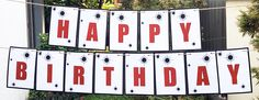 printable laser tag happy birthday banner Bunting Template, Birthday Banner Template, Happy Birthday Bunting, Printable Banner, Party Printables, Laser Tag Birthday, Laser Tag Party, Diy Party Packs, As You Like