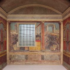 Fresco wall painting in a cubiculum (bedroom) from the Villa of P. Fannius Synistor at Boscoreale [Roman] (03.14.13a-g)   Heilbrunn Timeline of Art History   The Metropolitan Museum of Art