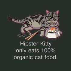 Hipster Kitty Tshirt