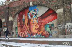Buenos-Aires based Painter Ever travels to Austria to paint a new street art mural in Vienna Graffiti Art, Urban Graffiti, Installation Street Art, Art Installations, Urbane Kunst, Best Street Art, Stencil Art, People Art, Street Artists