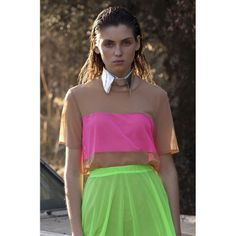 Image of BACK ON STOCK! Nude/ Fluor-Pink Tulle t-shirt