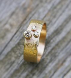 Champagne Diamonds & Gold Eternity Band by TorchFire Studio on Scoutmob Shoppe