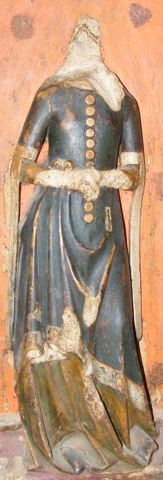 Daughter of Elizabeth Montacute, 1354, Oxford Christchurch College http://www.themcs.org/costume/Female/Oxford%20Christchurch%20College%20Elizabeth%20Montacute%201354%20daughter%2064.JPG
