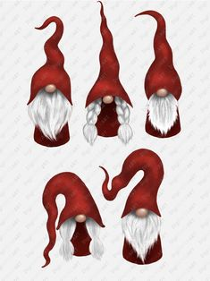 Scandinavian Gnome Clipart, Christmas Gnomes Clipart, Nordic Gnomes Clip Art, Christmas Fair Tomte Graphic Decoration PNG Design Elements - Trend Home Design 2019