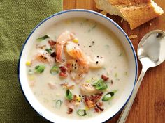 Shrimp and Corn Chowder | Enjoy our best healthy recipes for all that sweet, crunchy, peak-season corn.