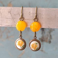 Drops Of Golden Sun Indie Earrings