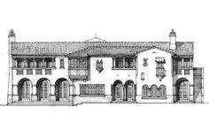 Z. W. Jarosz Architect, P.A.   Timeless Architecture Spanish House, Spanish Style, Historical Architecture, Architecture Plan, Urban Design Plan, Mountain Village, Hand Sketch, Mediterranean Homes, Classic House